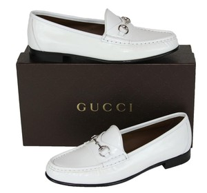 Gucci White Flats
