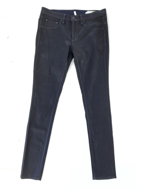 Item - Coated Navy And Skinny Jeans Size 28 (4, S)