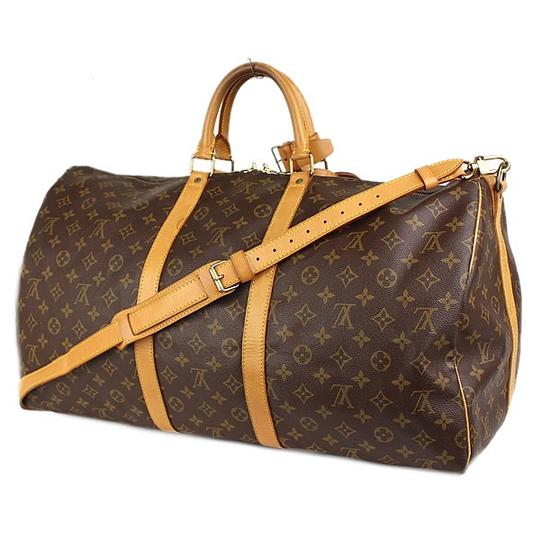 28465ec8f061 Louis Vuitton Keepall Lv 55 Bandouliere with Lv Lock and Key Brown ...