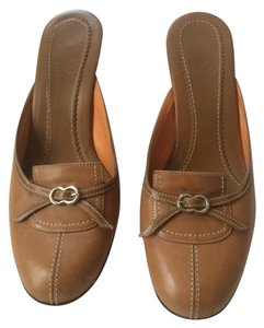Cole Haan Strawberry Fields Tan Brown Mules