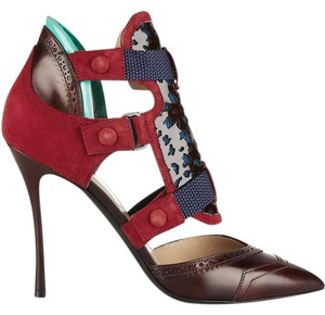 Nicholas Kirkwood Dark Red Pumps