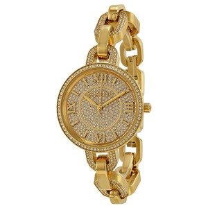 Michael Kors NWT Delaney Gold Crystal Pave Gold-tone Watch MK3268