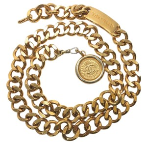 Chanel Chanel Vintage Gold Chain Rue Cambon Medallion Belt