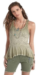 Free People Top Army Green