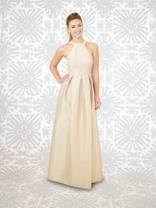 LulaKate Sky Abby Style Floor Length Shantung Fabric Sky Color Maternity Size 2 Dress