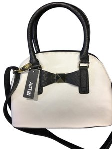 Apt. 9 Convertible Crossbody Gold Hardware Satchel in White and black