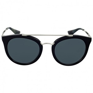 Prada Prada Cinema Black Plastic Round Grey Lens Authentic Cateye Sunglasses