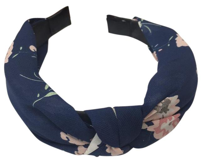 Item - Flower and Navy Blue High Quality Special Design Hairbow Hair Accessory