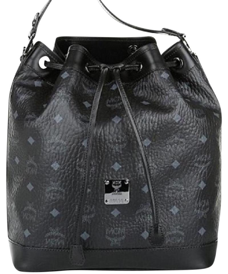 Mcm Drawstring Bucket Heritage Shoulder Bag