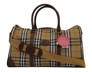 Burberry Nova Check Boston Travel Pvc Travel Bag