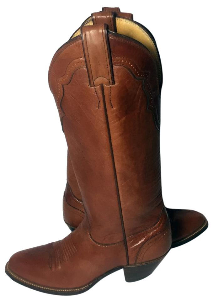 c0cde3fdffb Justin Brown Leather Vintage Western Cowgirl Women's Boots/Booties Size US  7 Regular (M, B)