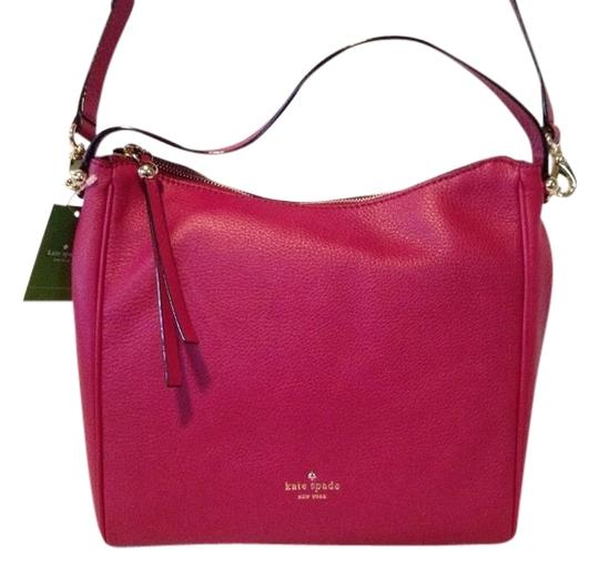 Kate Spade Leather New York Gold Hardware Classic Hobo Bag