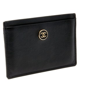 Chanel Chanel Signature CC Monogram Caviar Leather Travel Card Holder Gold