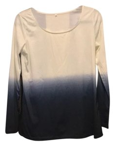SheIn Top white and navy