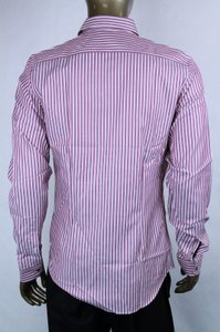 Gucci Pink/Light Purple Men's Skinny Stripe Pink/Light 43/17 387981 5012 Shirt