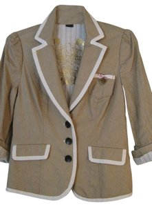 Guess Biege/Tan with Cream Trim Blazer