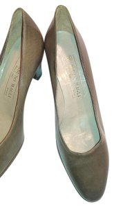 Bruno Magli Leather Taupe Pumps