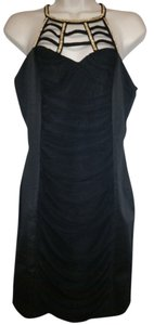 Katia Cage Neck Ruched Bodycon Dress