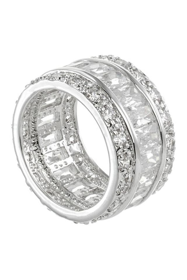 white ring band com bands oval size eternity cz dp cubic zirconia sterling silver amazon