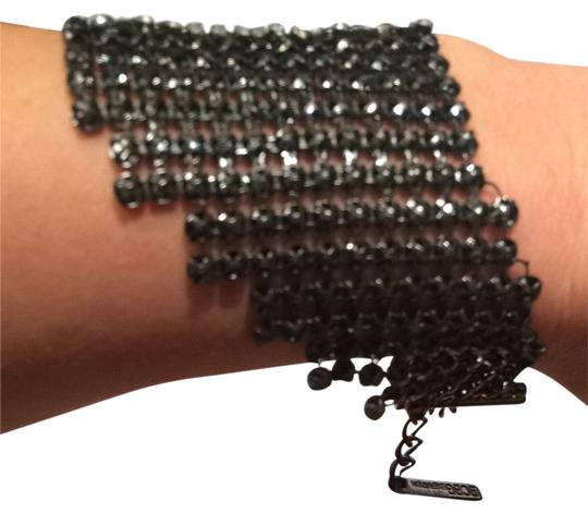 BCBGeneration BCBGeneration 'Lower East Side' Mesh Wrap Bracelet Gunmetal