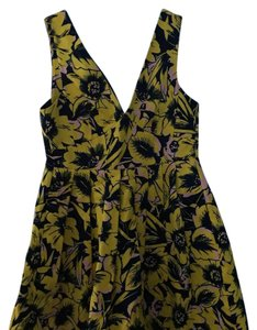 J.Crew short dress yellow and black on Tradesy