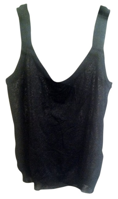 Item - Black and Silver Tank Top/Cami Size 6 (S)