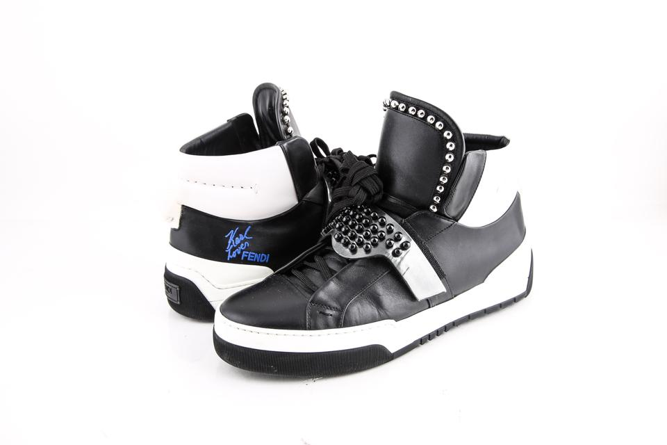 7a439b69 Fendi Black * Karlito High-top Sneakers Shoes 15% off retail