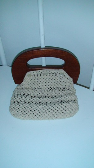 Other Purse Purse Vintage 1980's Crocheted Hip Cottage Chic Off White (spotless) Clutch