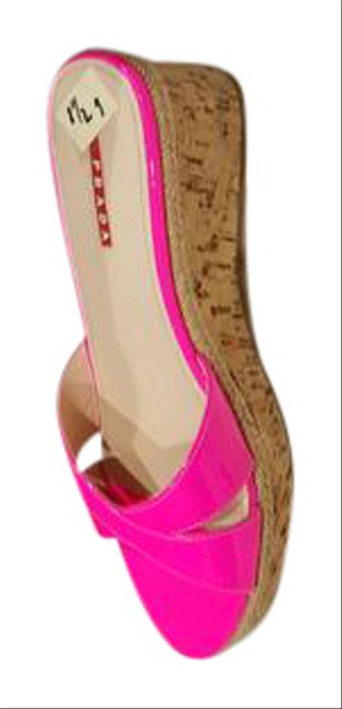 Item - Hot Pink In Great Condition Like New Wedges Size US 8 Regular (M, B)
