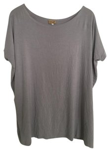 Piko 1988 Tunic Soft Stretchy Comfortable Casual T Shirt Grey