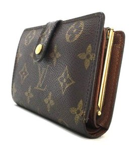 Louis Vuitton Vintage French Monogram Canvas Kisslock Bifold Wallet with Coin Pocket