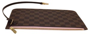 Louis Vuitton Neverfull Mm Pouch Pochette Rose Ballerine Clutch