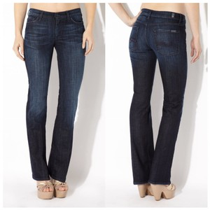 7 For All Mankind 7fam High Waist Boot Cut Jeans-Distressed