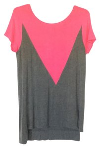 nOir T Shirt grey and pink