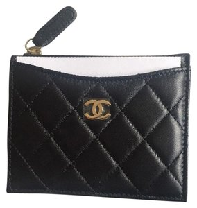 Chanel CHANEL 2017 Classic Lambskin O-Card Holder Zip Coin O-Case Wallet