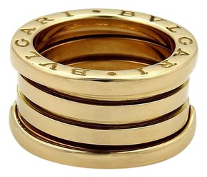 BVLGARI Bulgari B Zero-1 18k Yellow Gold 11mm Wide Band Ring EU 50 - US 5