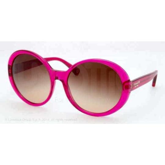 Coach NEW COACH Oversized Transparent Magenta Sunnies