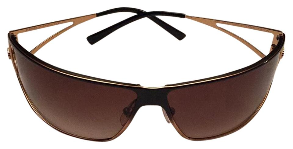 93df66f7d3f9 Versace Versace Brown Fade Wrap Around Sunglasses Image 0 ...