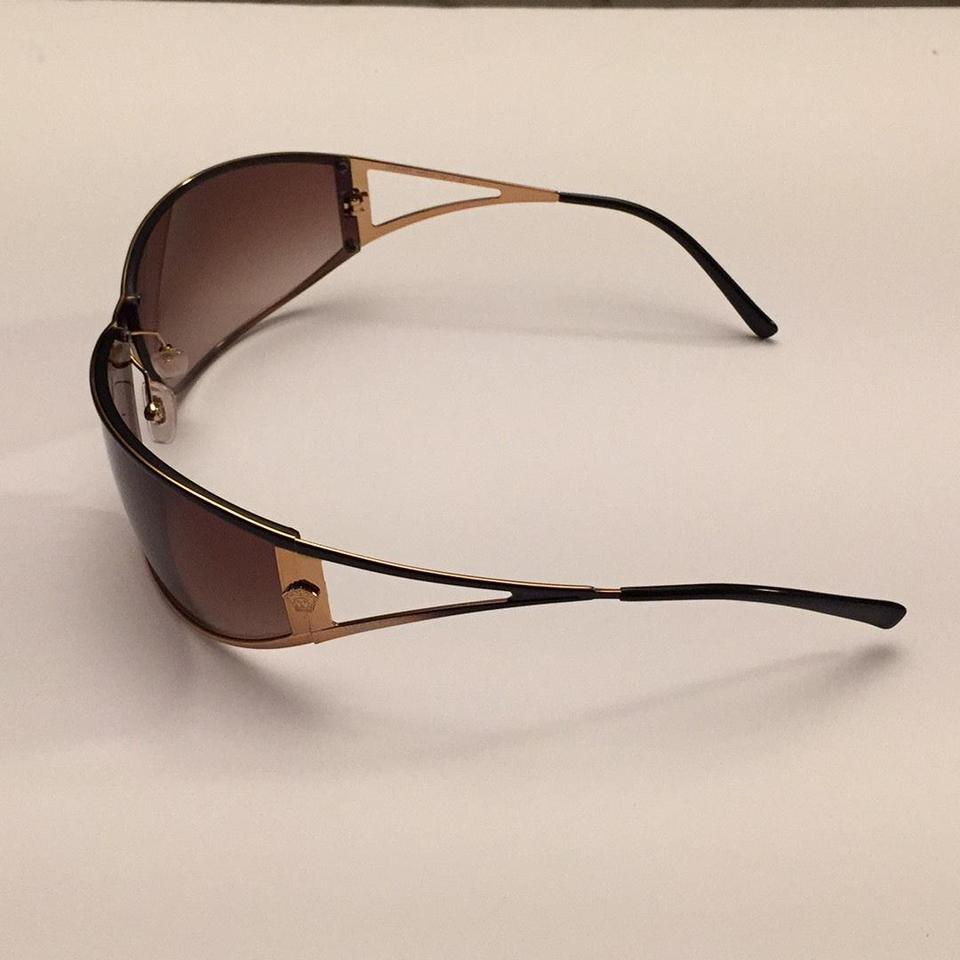 797825d31ed4 Versace Versace Brown Fade Wrap Around Sunglasses Image 9. 12345678910