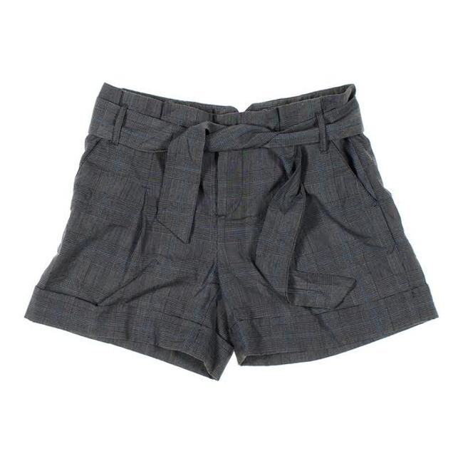 Item - Grey Plaid Belted Cuff Shorts Size 4 (S, 27)