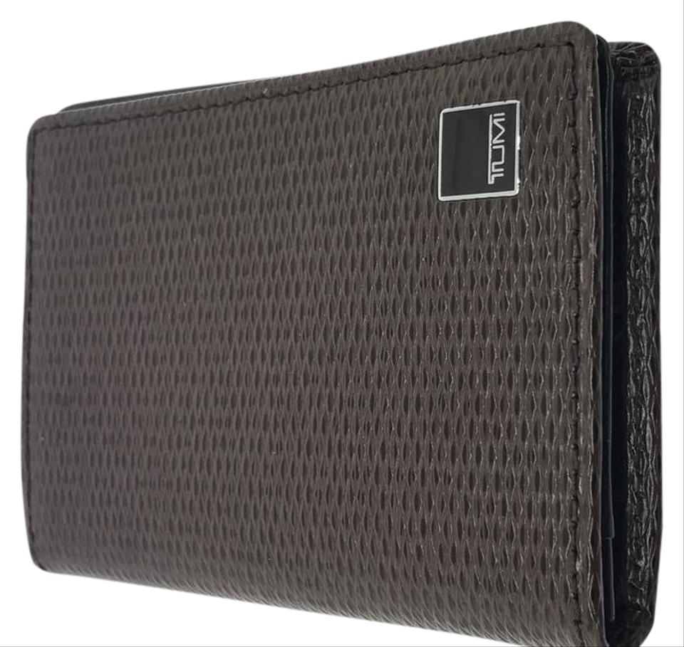 Tumi brown business cards holder wallet tradesy tumi business cards holder colourmoves