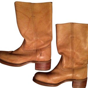 Frye Leather Campus 14l Tan Boots