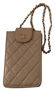 Chanel Quilted Gold Chain Quilted Cross Body Bag