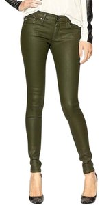 AG Adriano Goldschmied Waxed Coated Skinny Jeans-Coated