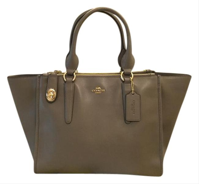Item - Carryall Crosby Smooth In Fog 33545 Taupe Grey Leather Satchel