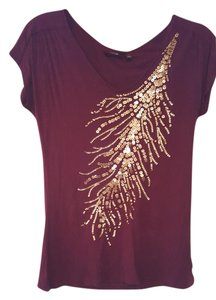 Apt. 9 Top Burgundy with Gold