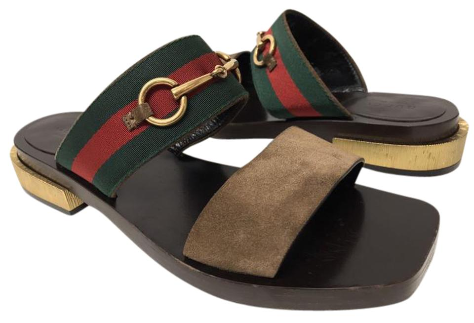 c946ad15f36ed Gucci Brown  querelle  Double Band 37.5 Sandals Size US 7.5 - Tradesy
