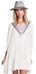 Umgee short dress Cream Boho Bohemian Free People Coachella on Tradesy