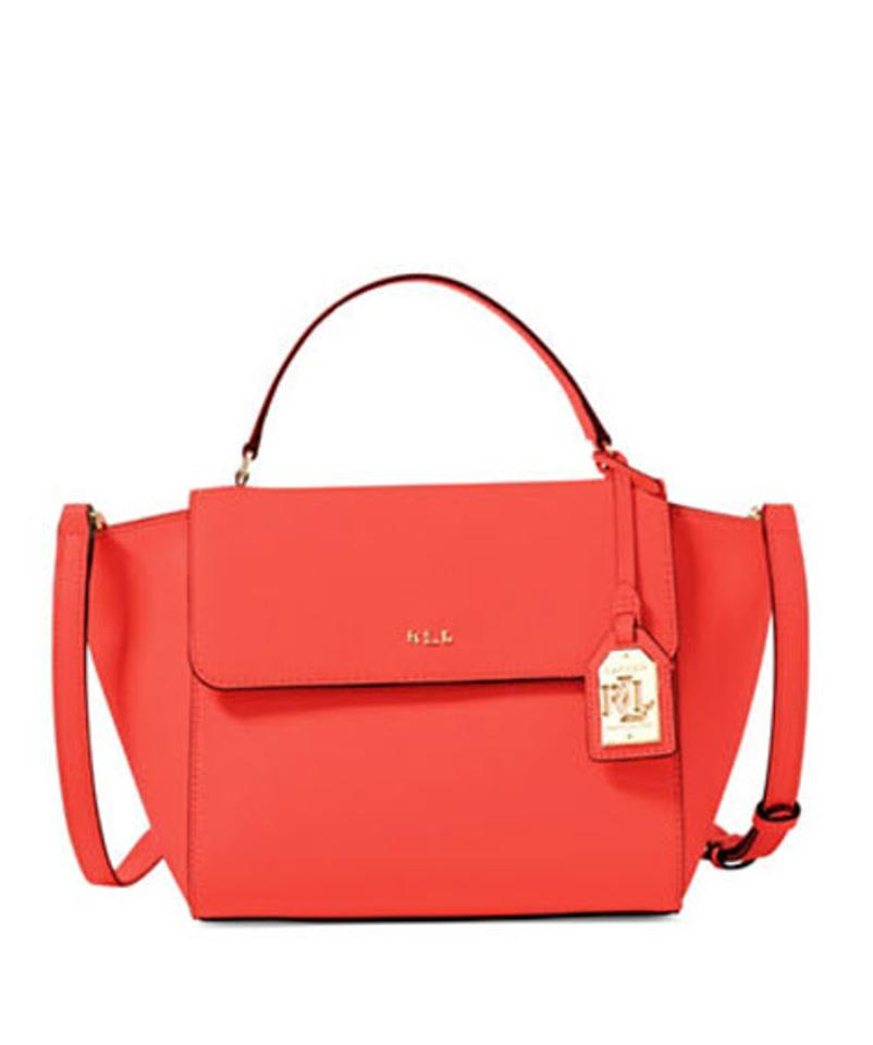 d629e0aba4 Lauren Ralph Lauren Darwin Leather New New With Tags Satchel in cayenne  gold Image 0 ...