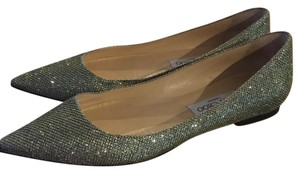 Jimmy Choo light bronze silver Flats
